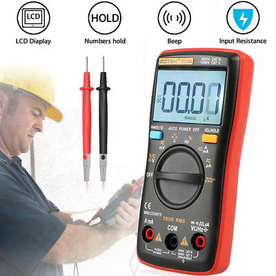 True-RMS Digital AN8008 Multimeter 9999 Counts Square Wave Voltage Ammeter Meter