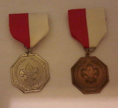 Boy Scouts of America Scout and Wolf Cub Medal - Bronze, Silver and Gold