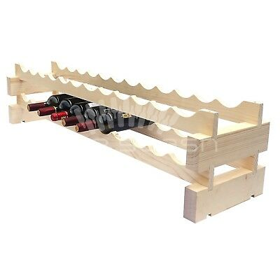 24 Bottle Modular Wine Rack - Stackable - Wine Stash - Free Shipping Aus Wide
