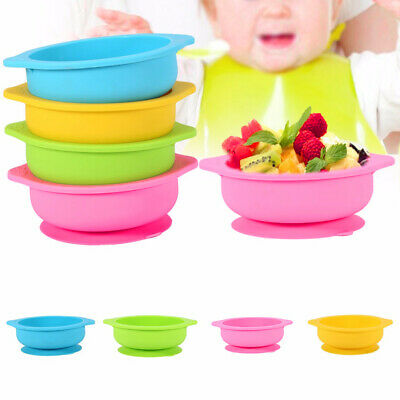 Baby Kids Feeding Suction Table Food Tray Placemat Plate Bowl Dish Silicone Mat