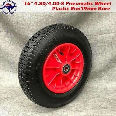 "16"" 4.50-8 16mm Bore Pneumatic Wheelbarrow Wheels Cart Tyres WHEEL Tyre"