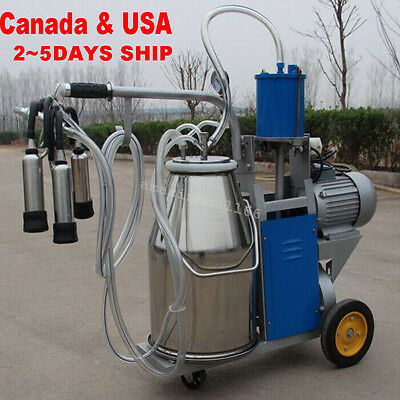 CE Electric Milking Machine For Farm Cows Bucket Vacuum Piston Pump 【2~5 days 】