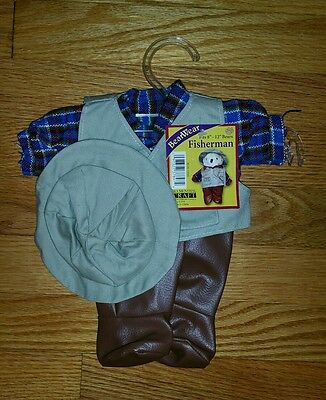 Bear Wear Fisherman Outfit - Fits 8'-12' Bears