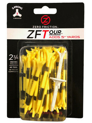 Zero Friction ZF Tour Tees 40 Pack 2.75 Inch Yellow