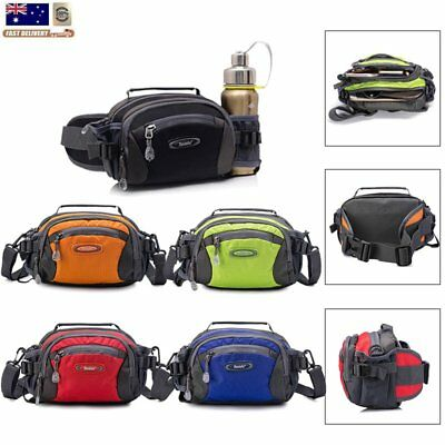 Travel Waist Bum Bag Waterproof Running Belt Fanny Pack Shoulder Zipper Pouch AU