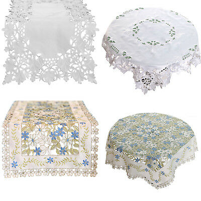 Embroidered Hollow out Lace Table Runners Cloth Tablecloths Home Wedding Decor