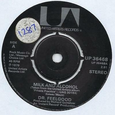 """Dr. Feelgood - Milk And Alcohol - 7"""" Single"""