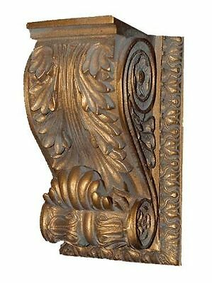 Acanthus Leaf with Scrolled Sides Bracket Wall Shelf Made in USA in 40 Colors