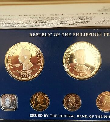 1975 Republic of the Philippines Proof 8 coin set Silver....