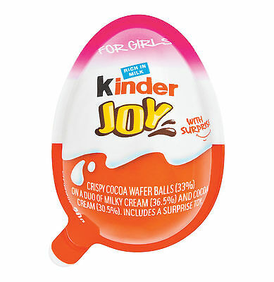 10 X Kinder JOY Surprise Eggs, Ferrero Kinder Choclate Best Gift Toys, for GIRLS