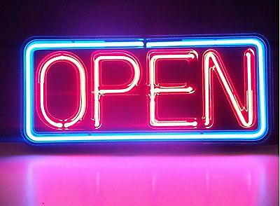 """New Open Sign Neon Light Sign 14""""x10"""" Fast Ship"""