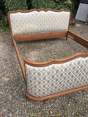 Antique French upholstered Corbielle Double Bed