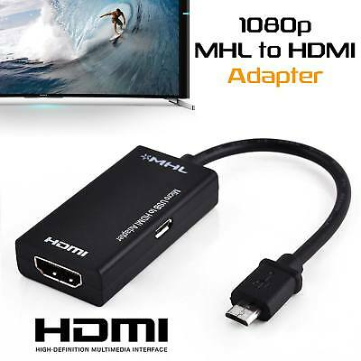 1080P MHL HDTV Cable Micro USB 2.0 to HDMI Adapter For Android Devices USA