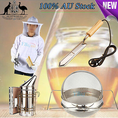 Electric Knife /Honey Strainer/Hive Smoker Equipment Tool/Beekeeping Veil Suit
