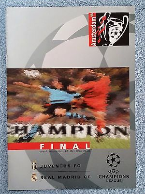 1998 - CHAMPIONS LEAGUE FINAL PROGRAMME - JUVENTUS v REAL MADRID