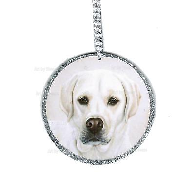 White Labrador Retriever Ornament White Lab Art Christmas Tree Labrador Portrait