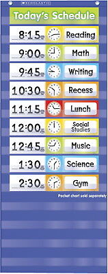 Scholastic Daily Schedule Pocket Chart Add On Cards