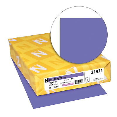Astrobrights Paper Card Stock, 8-1/2 X 11 in, 65 lb, Gravity Grape, Pack of 250