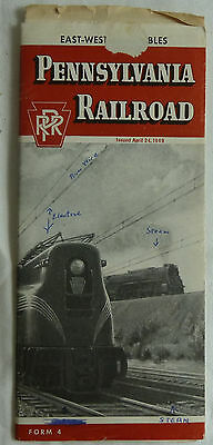 Prospekt Pennsylvania Railroad 1949