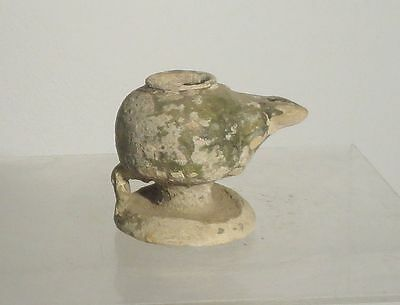 Antique Early Greco Roman Classical Pottery Oil Lamp Greek Roman