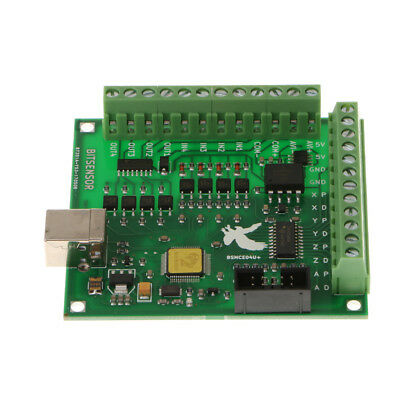 Breakout Board Motion Controller Card Power Supply CNC MACH3 USB 4 Axis