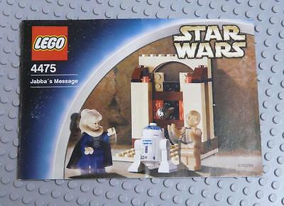 LEGO INSTRUCTIONS MANUAL BOOK ONLY 4475 Jabba's Message  x1PC