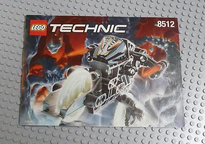 LEGO INSTRUCTIONS MANUAL BOOK ONLY 8512 Onyx  x1PC