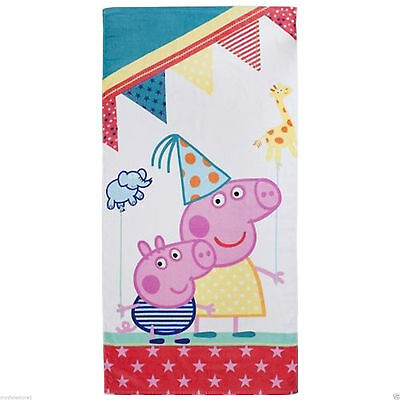 "PEPPA PIG ""FUNFAIR"" BEACH BATH TOWEL 70cm X 140cm"