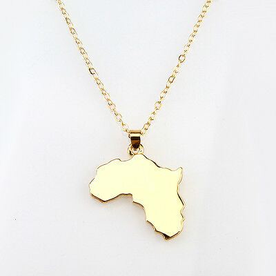 Africa Map Pendant Necklace Somalia Small Map Necklace for Jewelry Wholesale ...