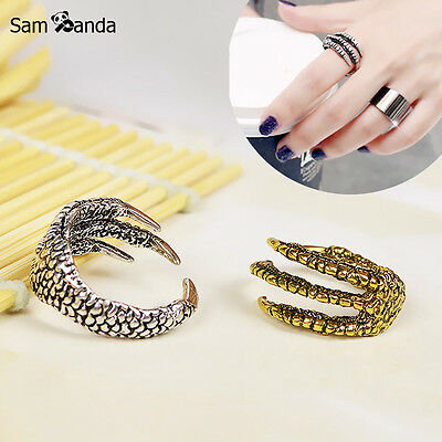 2017 New Arrival Men Dragon Claw Titanium Steel Fashion Ring Mens Stainless S...