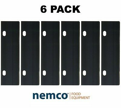 6PACK Nemco Easy Grill Scraper Replacement Stainless Steel Blades Barbeque Tools