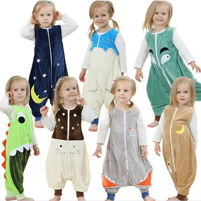 Kid 's Animal Pajamas/Pyjamas Cotton Jumpsuits Flannel Boys/Girls Cartoon Thin