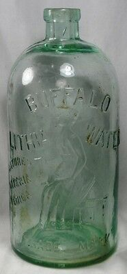 Antique ~ Buffalo Lithia Water Natures Materia Medica_Water Bottle