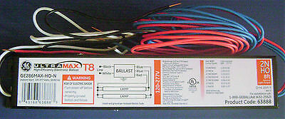 GE286MAX-HO-N High Output Fluorescent Ballast for 2 96W T8 H.O. 8' Lamps