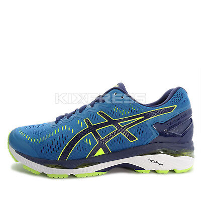 best loved 89d60 a29a3 Asics GEL-Kayano 23 2E [T647N-4907] Men Running Shoes Thunder Blue/Safety  Yellow