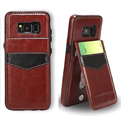 Samsung Galaxy S6 S7 S8 S9 S10 S10+ Leather Card Wallet Stand Back Cover Case