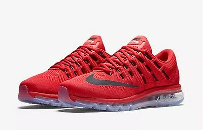 NIKE AIR MAX 2016 Red Black Gym Red Running Shoes (806771