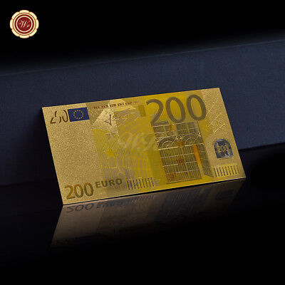 WR 24K Gold European 200 Euro Banknot World Paper Money Collectable Gift for Men