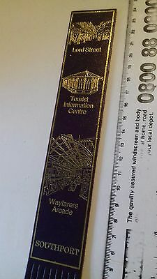 Leather bookmark. Southport. Three images.