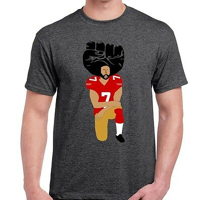 United We Stand - Colin Kaepernick T Shirt - Kneeling in Silent Protest - SM-6XL