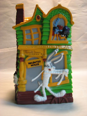 1997 Russell Stover Halloween Haunted House Looney Tunes Plastic Bank