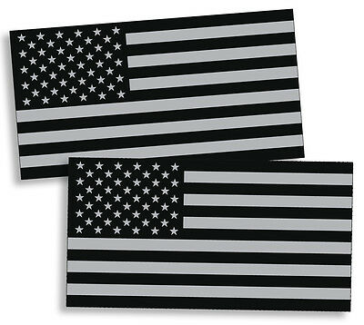 342ea889ed4b Black OPS Gray USA Flag Sticker American Military Car Truck Decal Subdued  Helmet