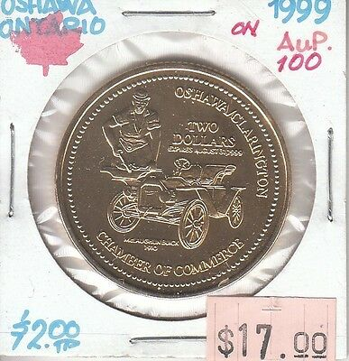 Oshawa Ontario Canada - Trade Dollar - 1999 Gold Plated