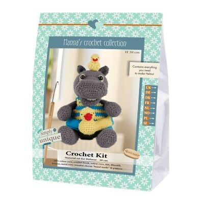 NEW | Go Handmade Crochet Kit | Helmut & Friends Hippo Helmut | FREE SHIPPING