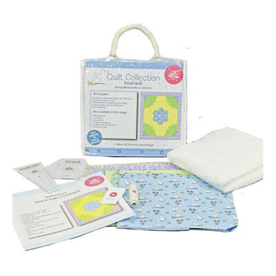 NEW | Craft Cotton 1902-02 | Spring Meadow Small Quilt Kit Blue | FREE SHIPPING
