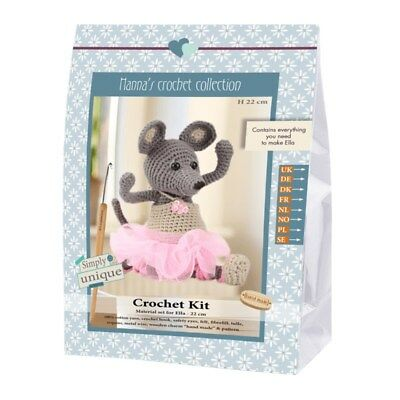 NEW | Go Handmade Crochet Kit - Emily & Friends Mouse Ella | FREE SHIPPING