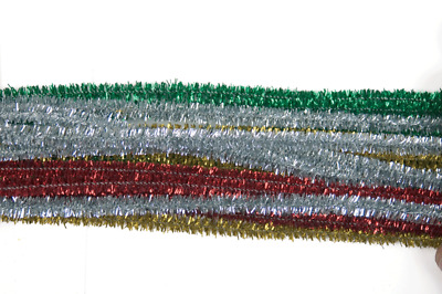 The Craft Factory CF11[5-9] | Chenille Glittery Pipe Cleaners 6mm x 30cm 20pk