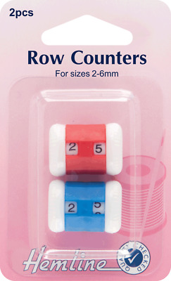 Hemline H882 | Knitting Stitch/Row Counter/Register | 2 Pieces