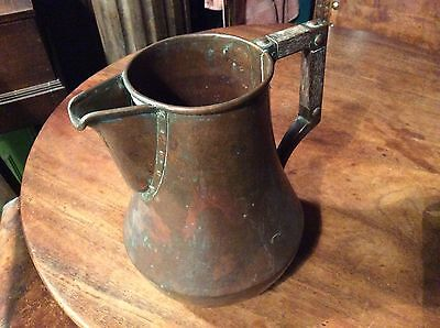 Large copper arts and crafts jug, c1900