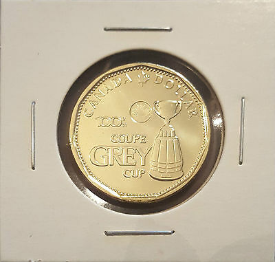 2012 $1 Grey Cup Loonie Canada Dollar - Directly from Mint Roll (see pictures)
